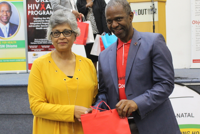Naseem Haniff and Dr Sibongiseni Dhlomo