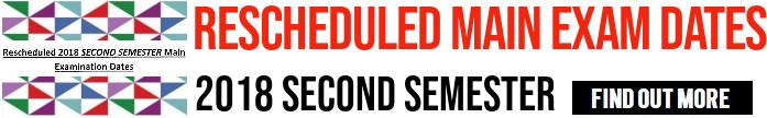 Rescheduled Exam