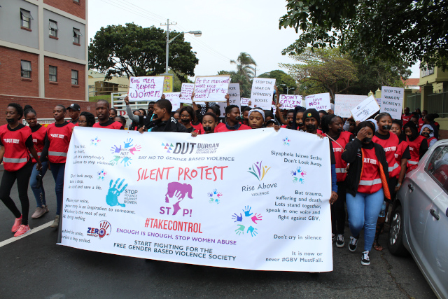 DUT Students during the Silent Protest March