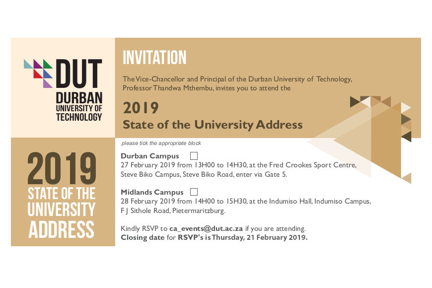 State of the University Address Invitation