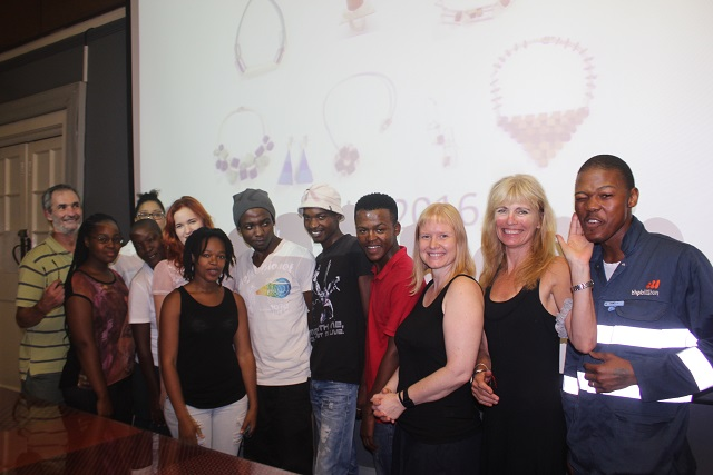 DUT Jewellery Design lecturers with their students