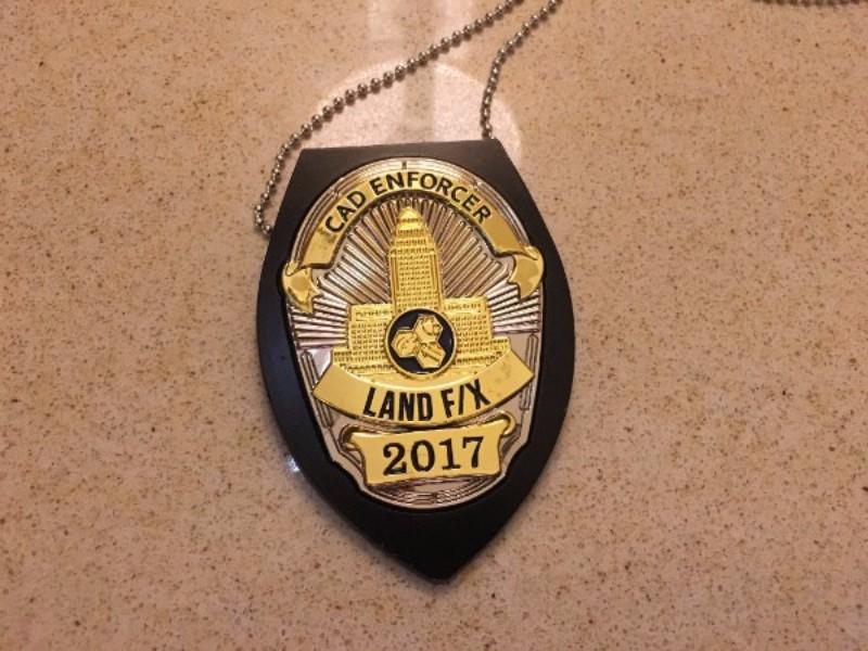 CAD Enforcer Badge