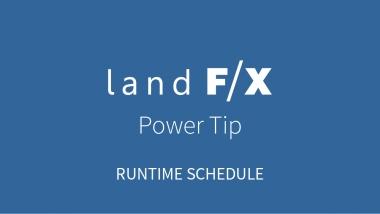 Power Tip: Runtime Schedule