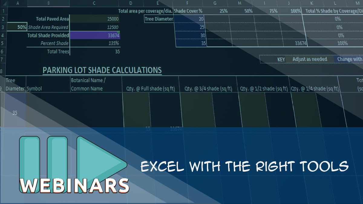 Webinar: Excel with the Right Tools