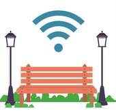 Park Benches with WIFI