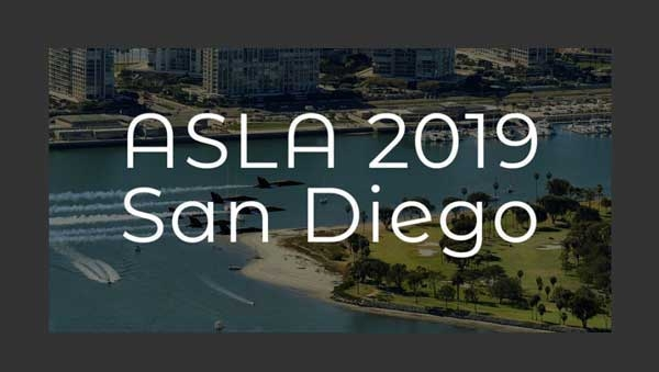 Annual ASLA Conference on Landscape Architecture in San Diego. November 15-18, 2019