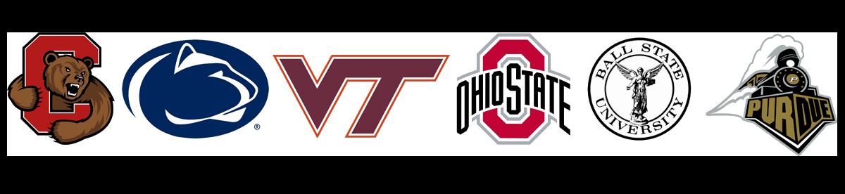 Cornell, Penn State, Virginia Tech, Ohio State, Ball, Purdue