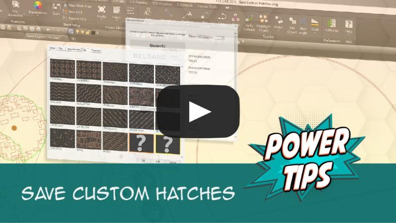 Power Tip: Save Custom Hatches