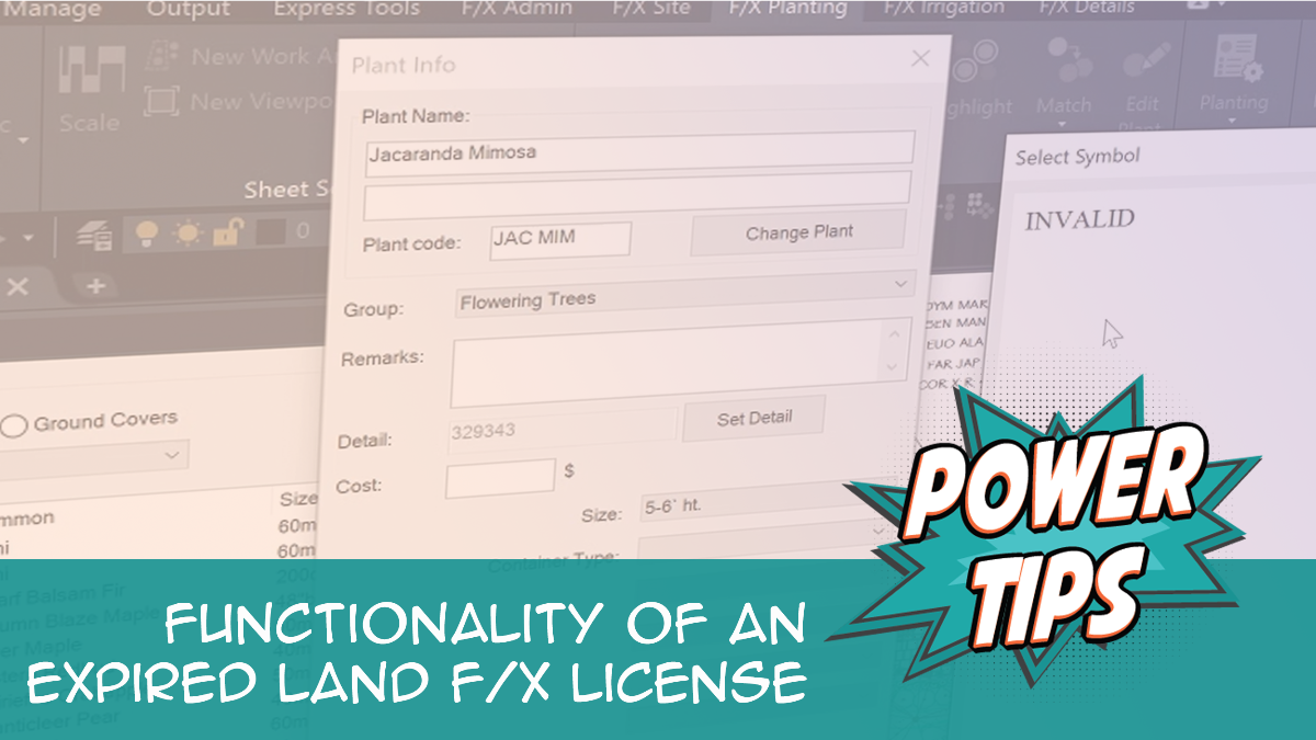 Functionality of an Expired Land F/X License