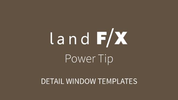 POWER TIP: DETAIL WINDOW