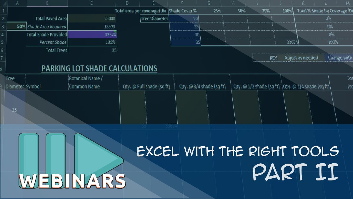 Webinar: Excel with the Right Tools - Part 2