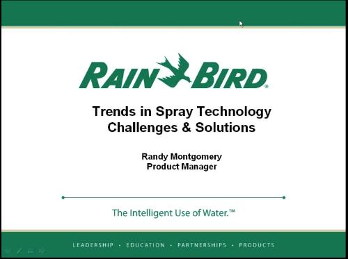 RAIN BIRD WEBINAR