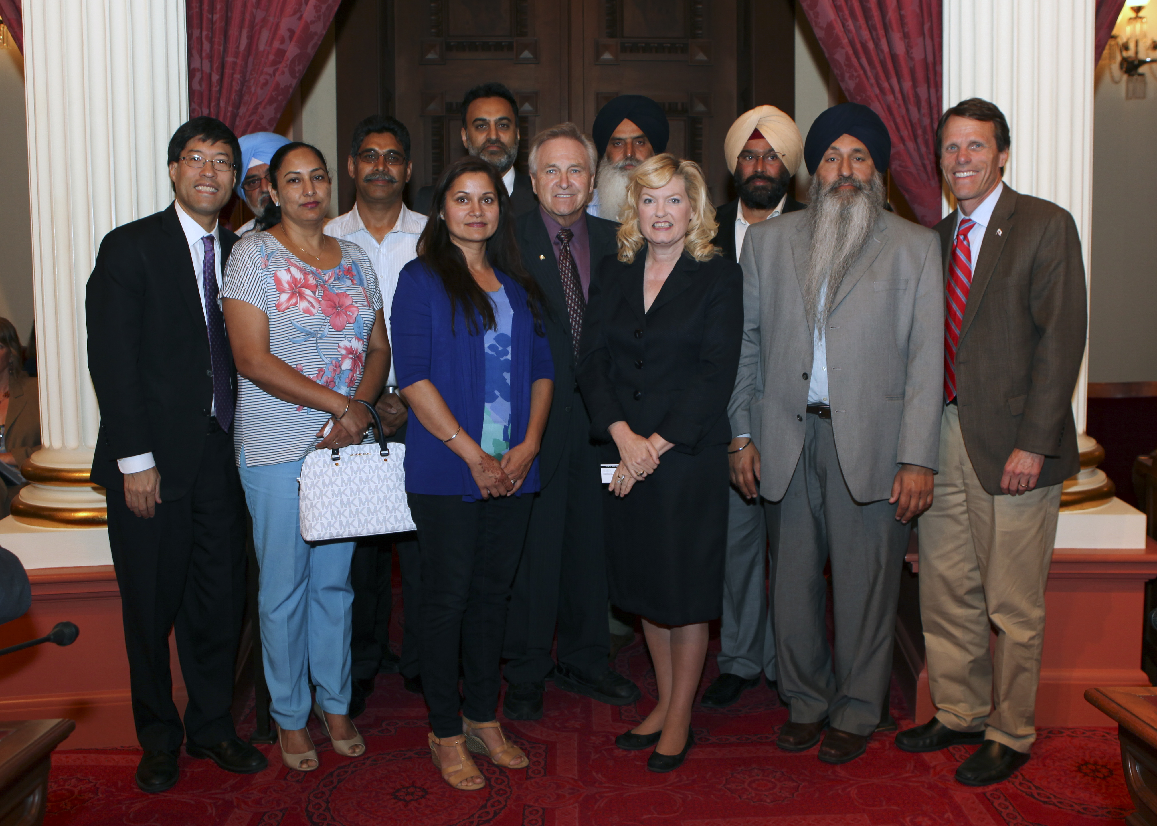 Sikh Community Representatives at California State Senate