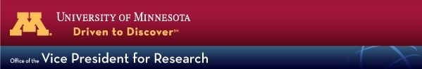 UMN   Office of the VP for Research banner