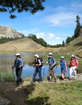 Queyras Guided Walking - walking towards Lac Ste Anne