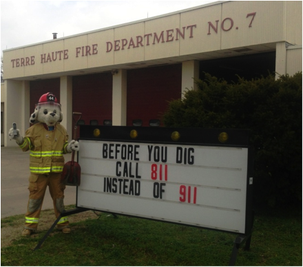 Indiana Firehouses Promote Safe Digging Month