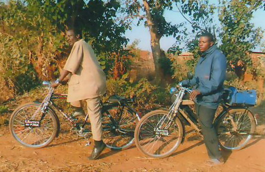 Deacon and Evangelist on Bicycle