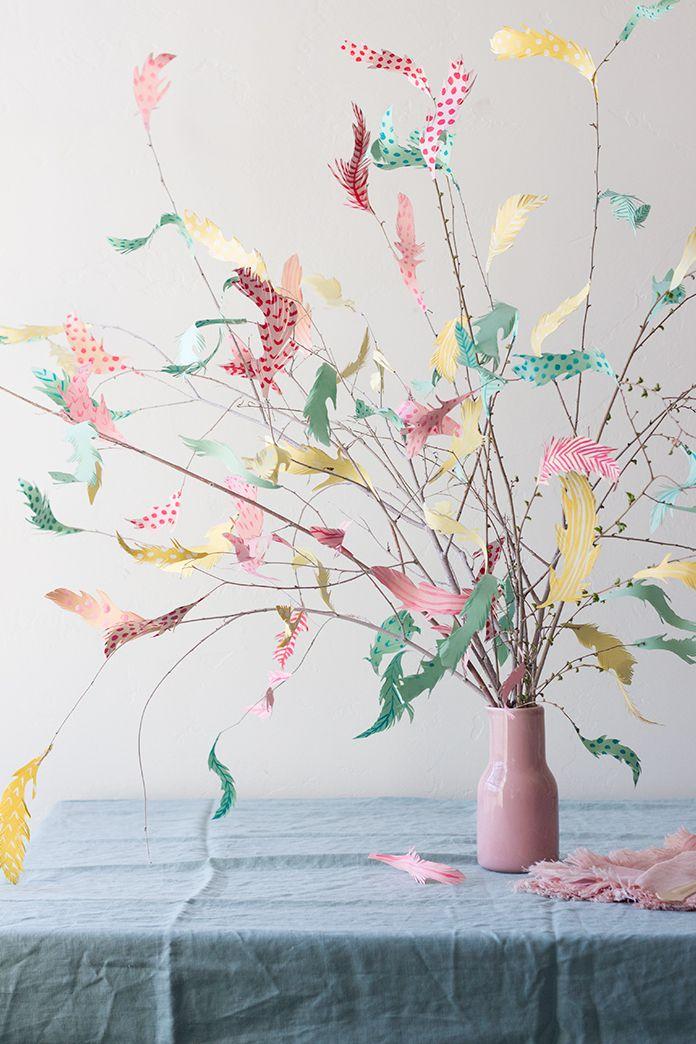 DIY Easter decor, handmade decoration tree