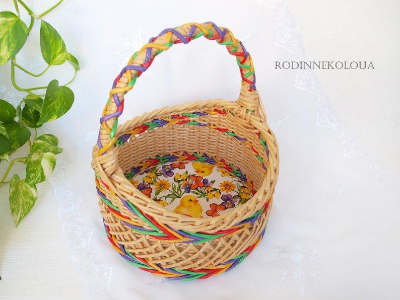 DIY Easter decor 2019, handmade decor for eggs , eggs basket