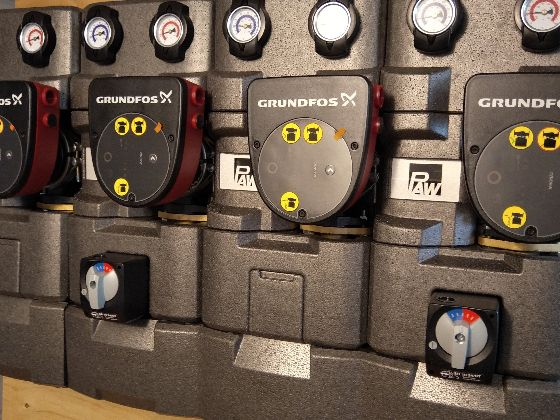 Four-zone Modular System with Grundfos Magna1 ECM circulators (custom solution)