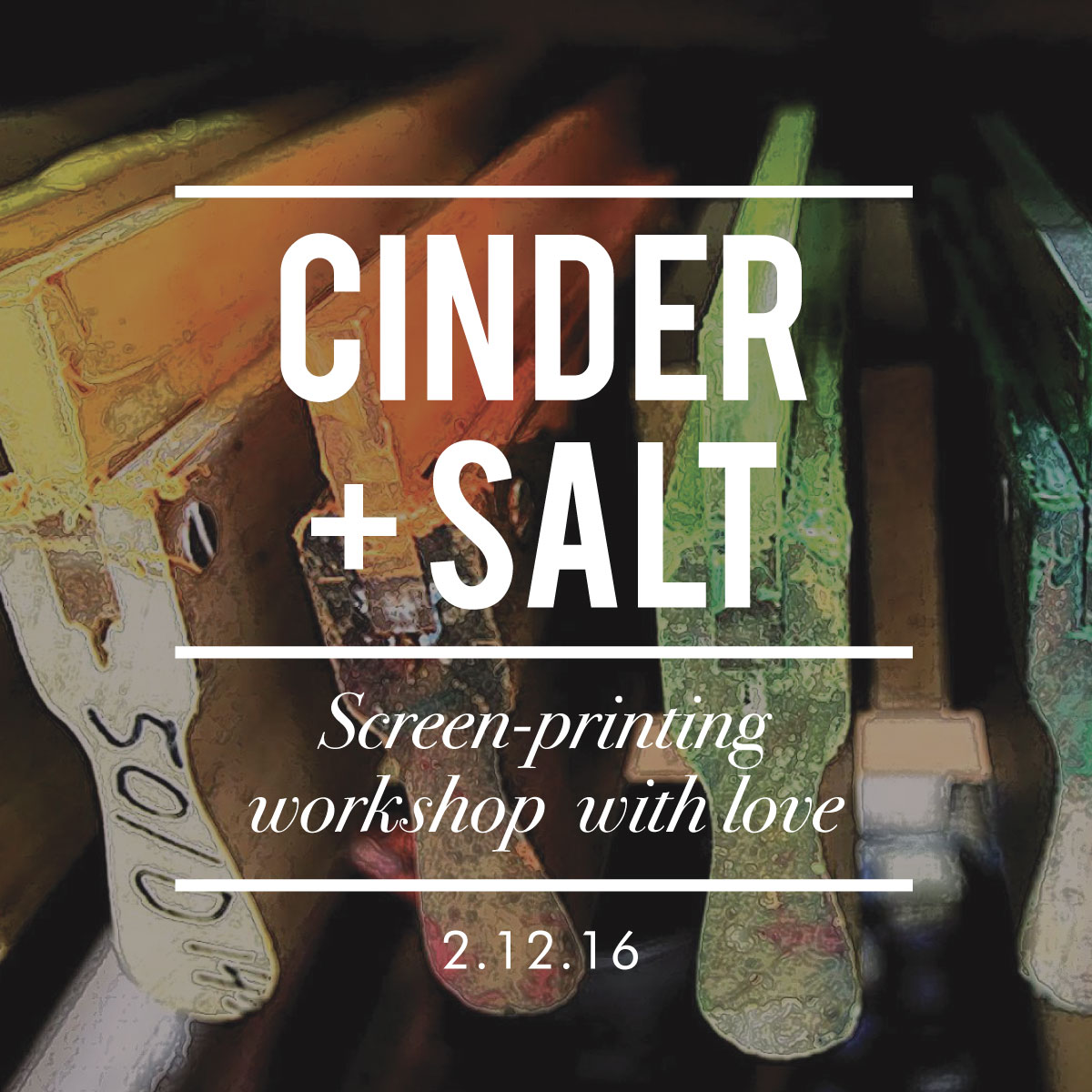 http://hartfordprints.com/shop/screen-printing-workshop-cinder-salt-february-12-2016/