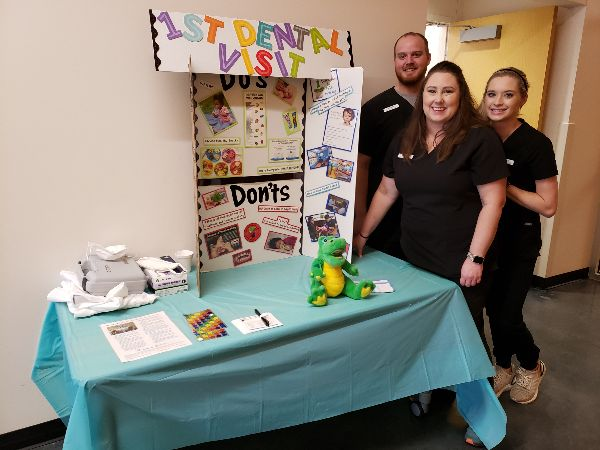 Students ready to present and demonstrate their station activity, First Dental Visit by Age One