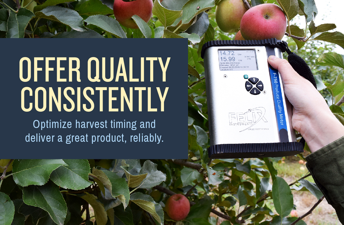 Offer quality consistently - optimize harvest timing.
