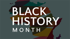 Banner of Black History Month