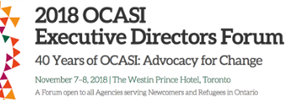 Banner of the OCASI ED Forum 2018