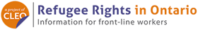 Logo of Refugee Rights in Ontario