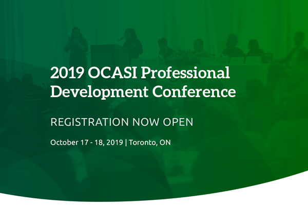 Banner of the OCASI PD Conference
