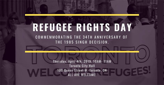 Banner of Refugee Rights dAY 2019