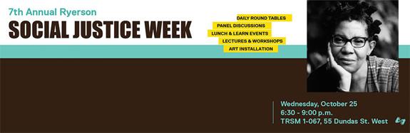 Social Justice Week - Web banner