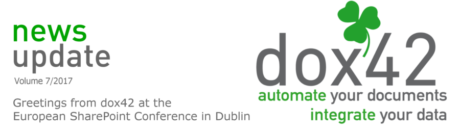 dox42 Greetings from the European SharePoint Conference in Dublin