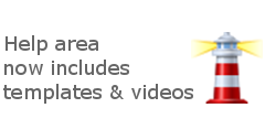 Help area now includes templates & videos