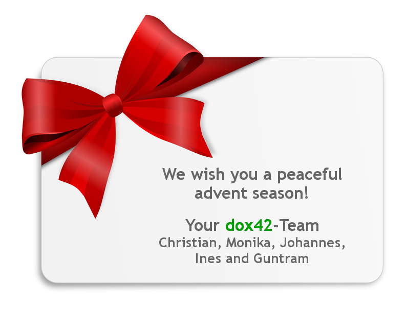 We wish you a peaceful advent season!