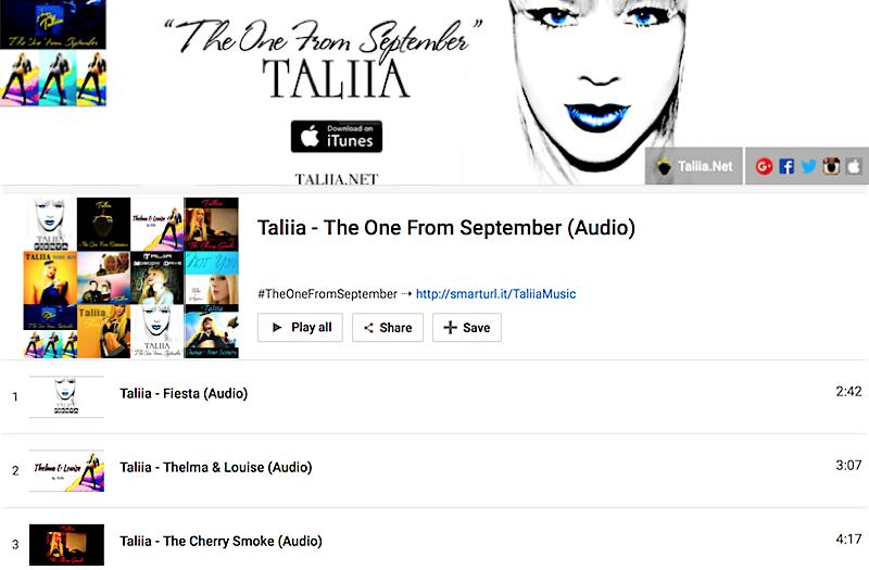#TheOneFromSeptember Audio Playlist on YouTube