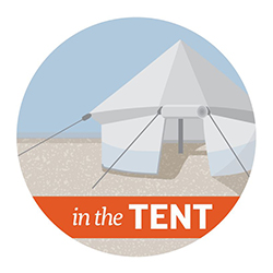 In the Tent graphic