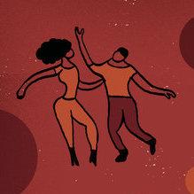 Animated couple dancing