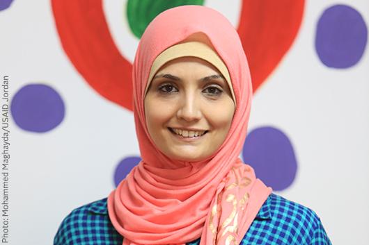 Eman Awamleh in her business