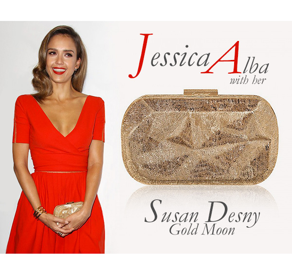 To the newsdesk and to whom it may concern: actress Jessica Alba with a Corto Moltedo SUSAN Desny clutch at the Samsung Hope for Children Gala in NYC.