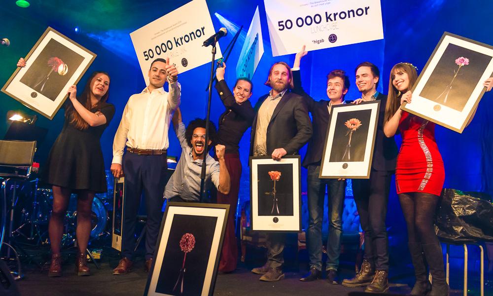 Linda Vagnelind livemålar på The Brewhouse Award