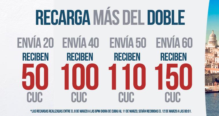 Recarga Más del Doble con la Oferta Cubacel de Marzo