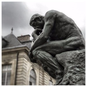 "Picture of Rodin's ""The Thinker"" Sculpture"
