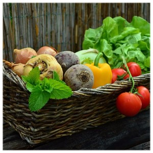 Picture of Fresh Vegetables in Basket