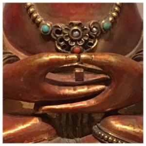 Detail of a bodhisattva statute