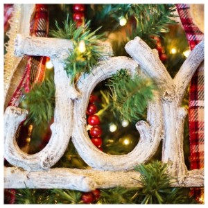 Picture of Joy Ornament on Christmas Tree