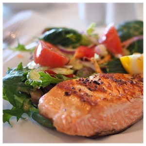 Picture of Grilled Salmon and Green Salad