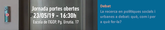 Jornada Portes Obertes IGOP
