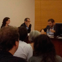 Marc Balaguer defensant la seva Tesi